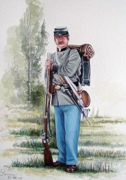 Confederate regulation infantry dress